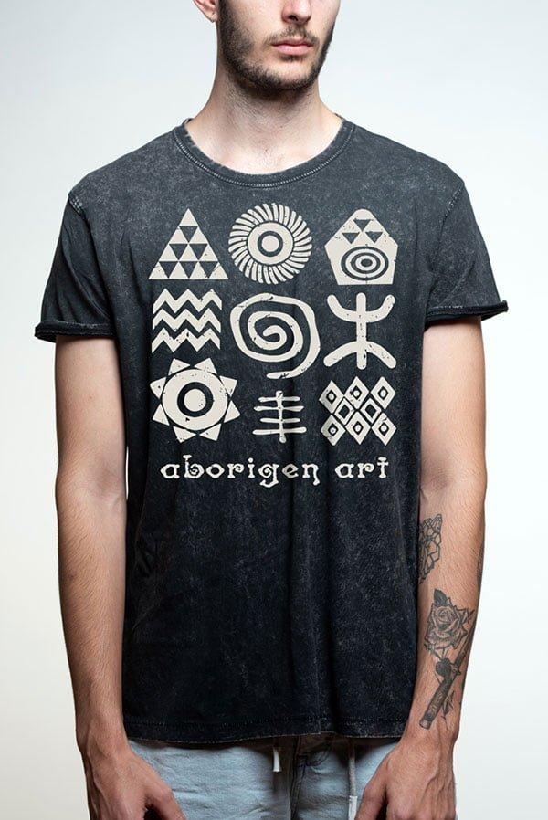 Camiseta aboriginal art