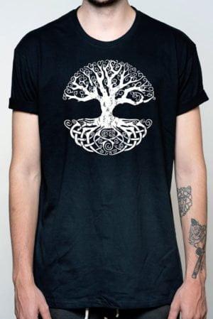Camiseta hombre drago árbol vida