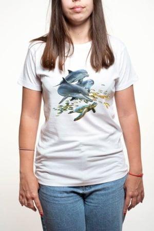 Camiseta mujer delfines