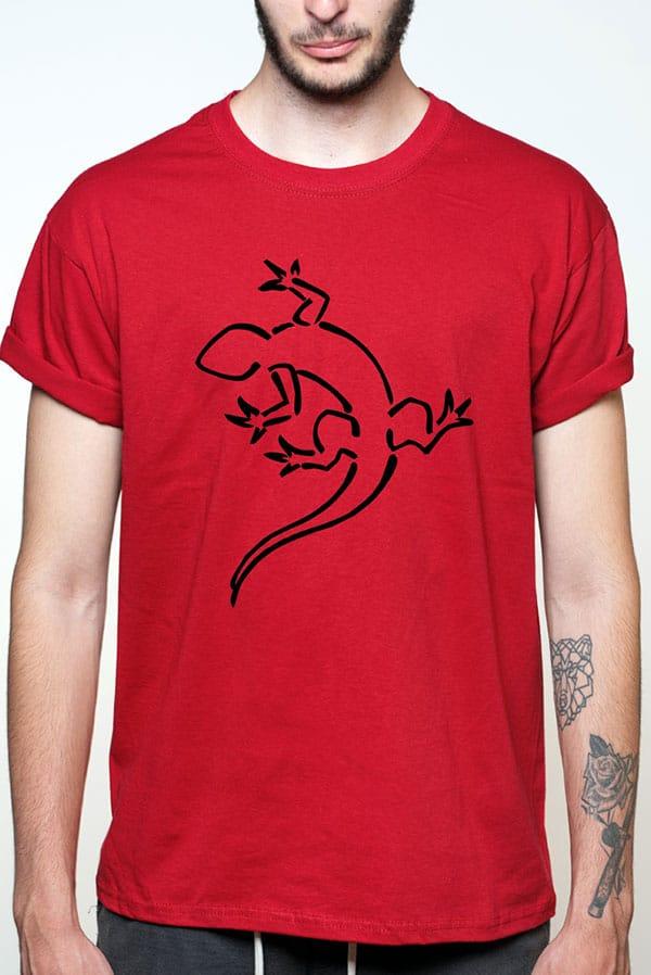 Camiseta hombre lagarto contorno