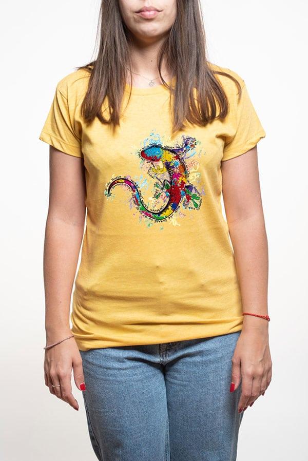 Camiseta mujer lagarto colores