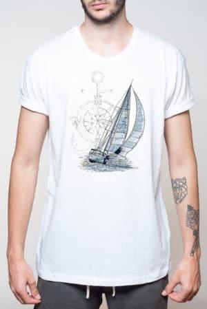 Camiseta hombre marinera velero original