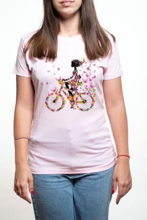 Camiseta mujer con mariposas