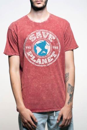 Camiseta hombre original save planet