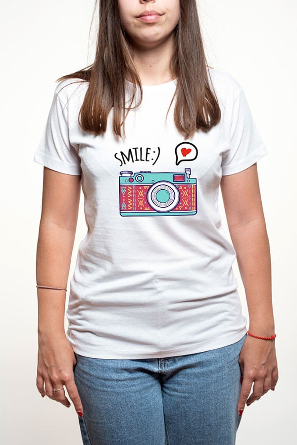 Camiseta mujer divertida smile