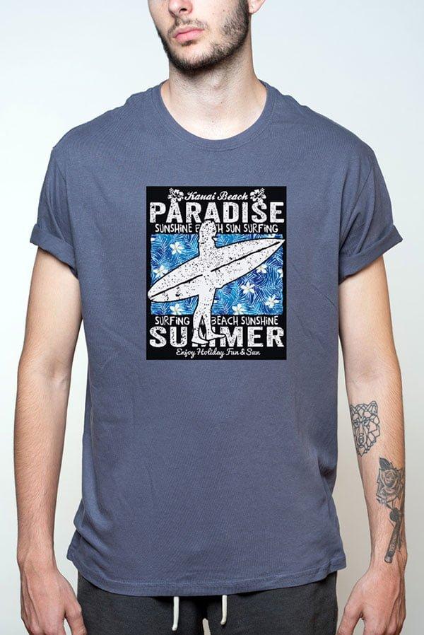 Camiseta hombre surfera con frase