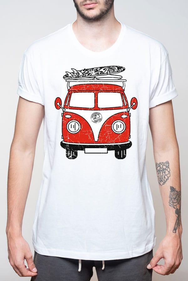 Camiseta hombre furgoneta VW surfera