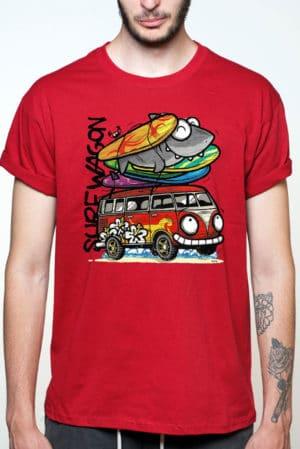 Camiseta furgoneta surfera divertida