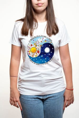 Camiseta original mujer yin yang