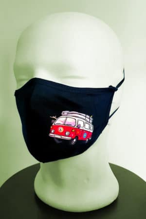 Mascarilla tela lavable furgoneta vw