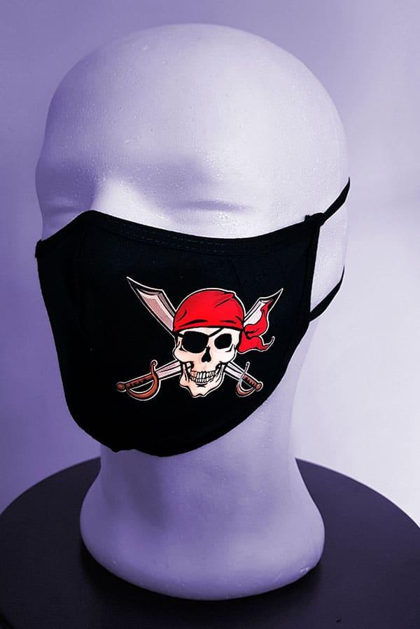 Mascarilla tela lavable pirata
