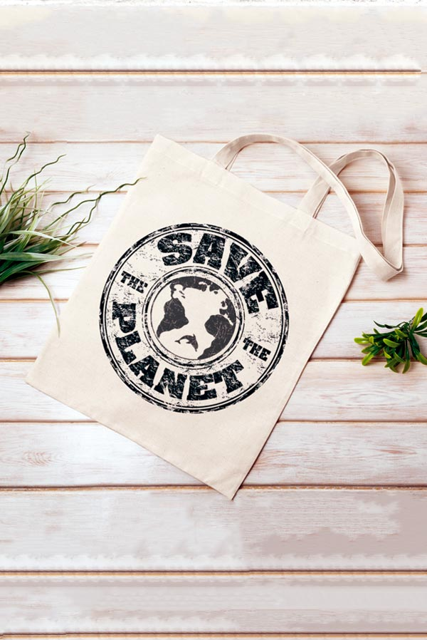 tote bag frase save the planet