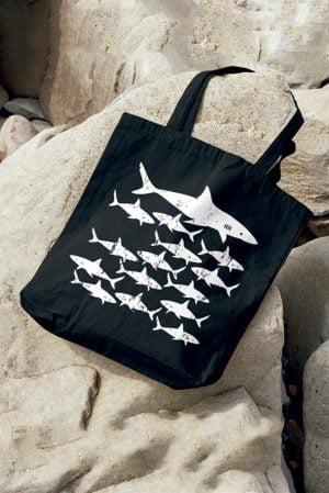tote bag tela original tiburones