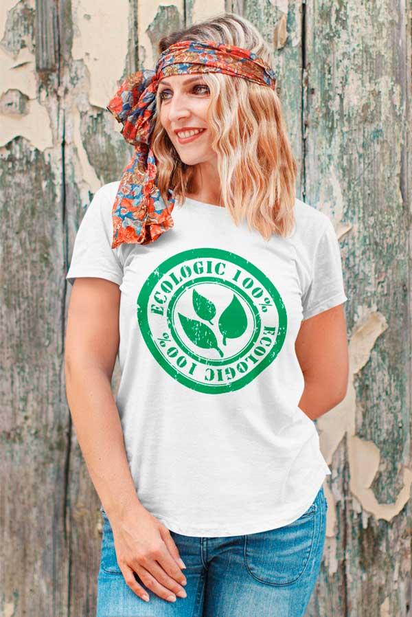 Camiseta algodón orgánico Unisex 100% ecológico