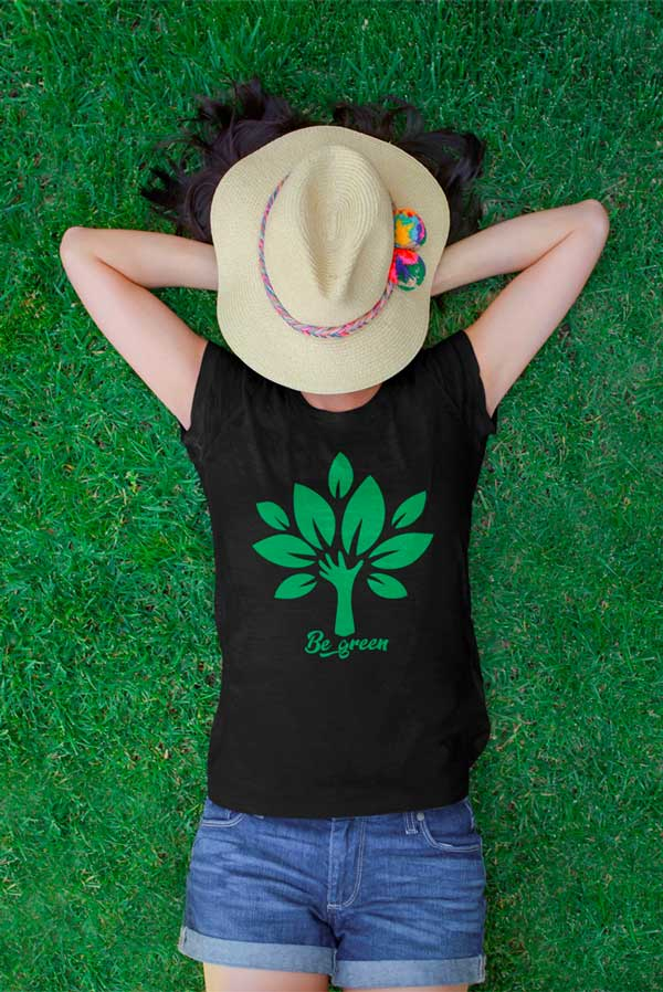 Camiseta algodón orgánico Unisex be green