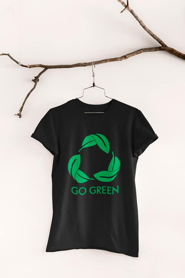 Camiseta algodón orgánico Unisex go green