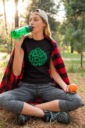 Camiseta algodón orgánico Unisex i love the earth