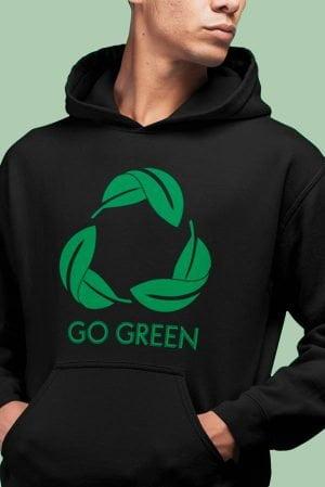 Sudadera original unisex capucha go green