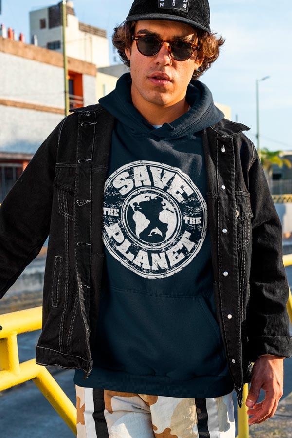 Sudadera original unisex capucha Save the planet