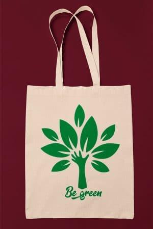 Tote bag original be green