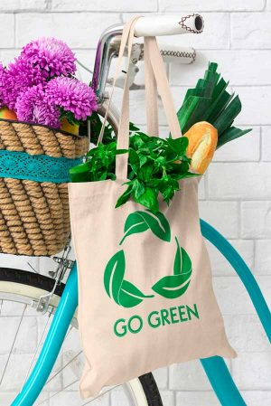 Tote bag tela original Go green