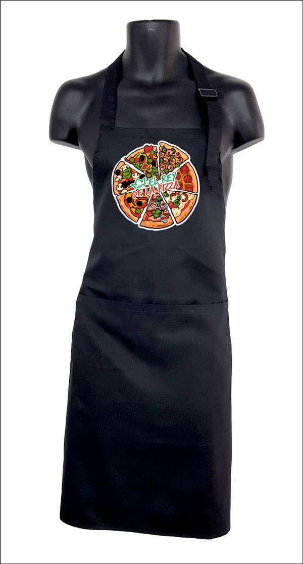 delantal de cocina original el rey de la pizza