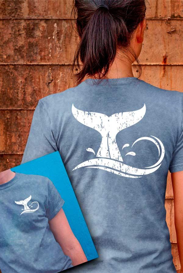 Camiseta mujer original diseño ballena